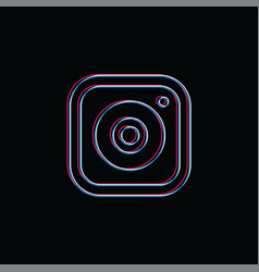 Camera photography neon light brand company vector