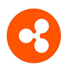 Symbol of digital crypto currency ripple vector