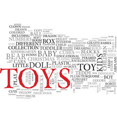 Toy word cloud concept vector