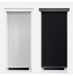 Windows with louvers vector