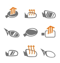 Car mirror icons vector image