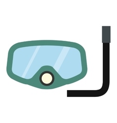 Diving mask icon vector