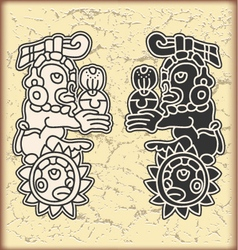 Ornament in style of the maya vector