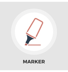 Marker icon flat vector