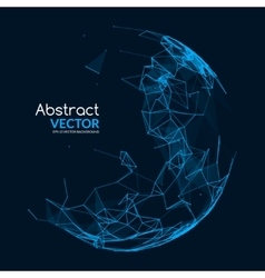 Abstract glowing sphere futuristic techno vector