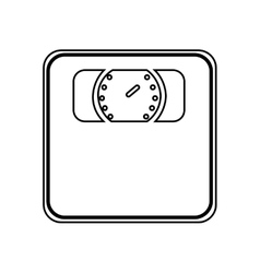 Weight measure scale isolated icon design vector