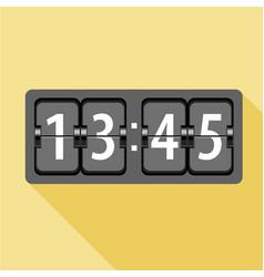 analog flip clock icon flat style vector image