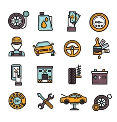 Auto Service Icon Set vector image