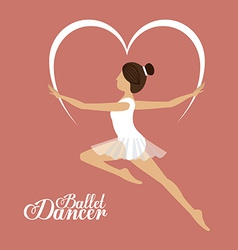 Ballet dance design vector image