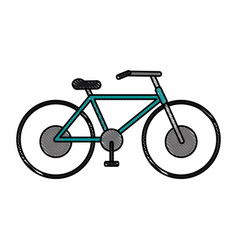 Bycicle flat scribble vector