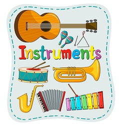 Different kind of musical instrument vector