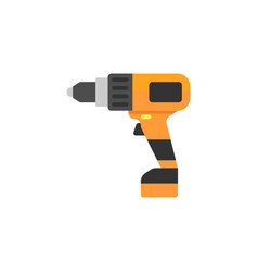 Electric screwdriver flat icon build repair vector