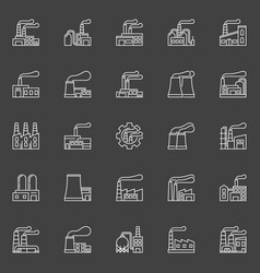 factory buildings icons vector image