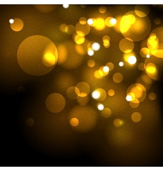Gold festive abstract background vector image vector image