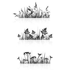 Grass banner silhouette vector
