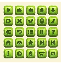 Green stone square buttons vector image vector image