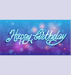 Happy birthday handwriting background vector