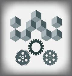 Logo design repair service vector