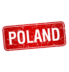 Poland red stamp isolated on white background vector
