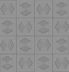 Polygon black white pattern vector