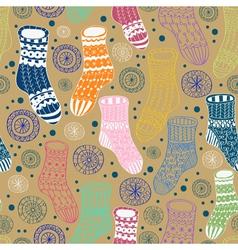 Seamless hand drawn socks vector