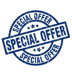 special offer blue round grunge stamp vector image