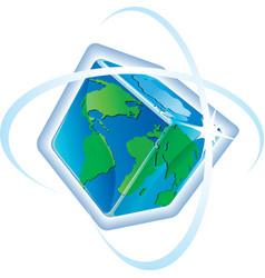 Square globe vector