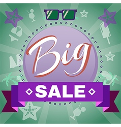 Summer Big Sale Promotion vector image vector image