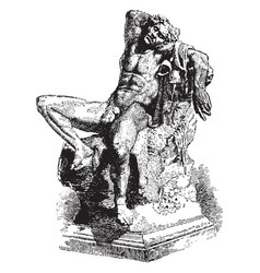 The barberini faun or drunken satyr was found in vector