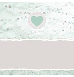 Valentine hearts card vector image vector image