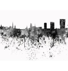 Zurich skyline in black watercolor on white vector