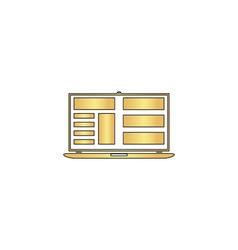 Laptop computer symbol vector