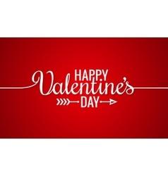 Valentines day line vintage lettering background vector