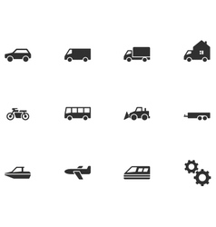 12 Transport Icons vector image