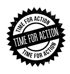Time for action stamp vector