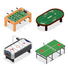 Table game set isometric view vector
