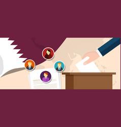 Qatar democracy political process selecting vector