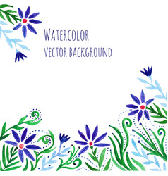 Watercolor hand paint decorative frame with vector