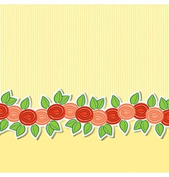 Rose banner card in format vector