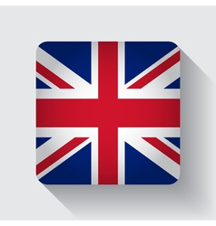 Web button with flag of the uk vector