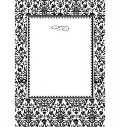 damask frame vector image