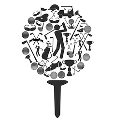 golf symbol vector image