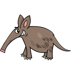 Aardvark animal cartoon vector