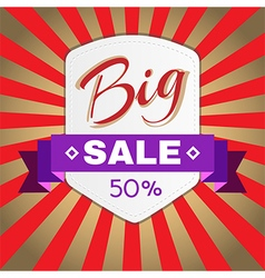 Big sale promotion flyer vector