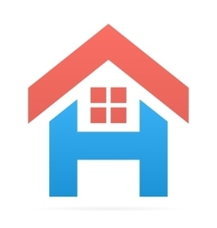 Logo combination of h letter and house vector