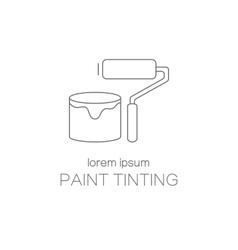 Paint tinting logotype design templates vector