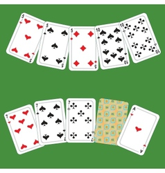 Card poker vector