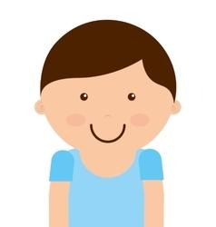 Little boy smile icon vector