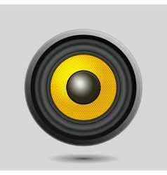 Audio speaker on light background vector