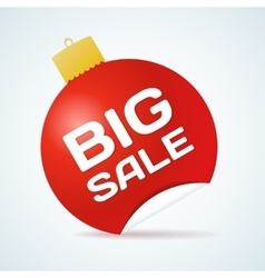 Big Sale Christmas Ball Sticker tags with text vector image vector image